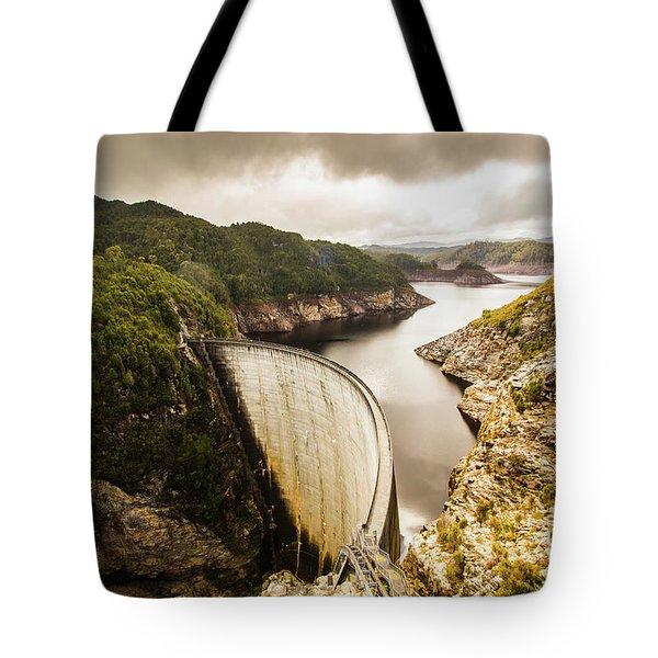 Tasmania Hydropower Dam Tote Bag