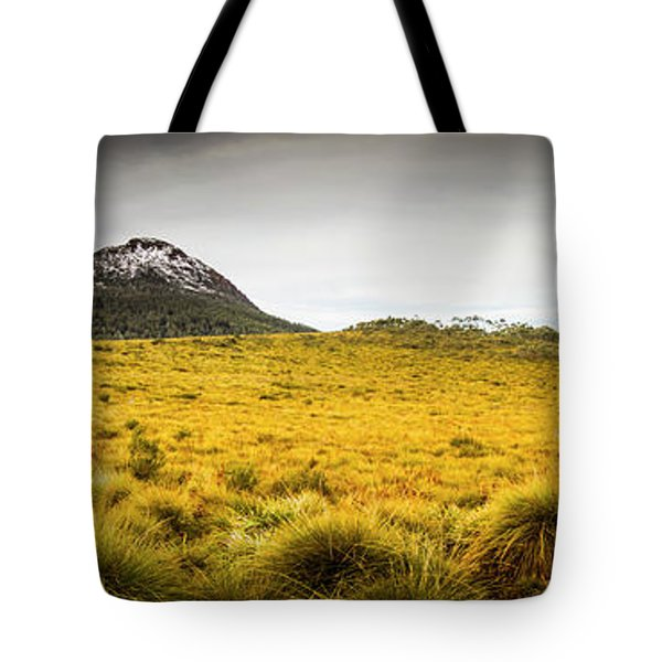 Tasmania Mountains Of The East-west Great Divide  Tote Bag
