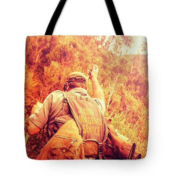 Tasmania Search And Rescue Ses Volunteer  Tote Bag