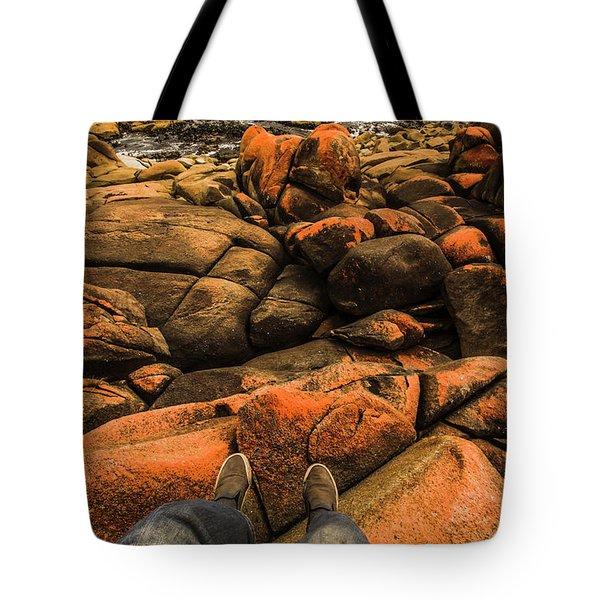 Tasmanian Tourist Kicking Back  Tote Bag