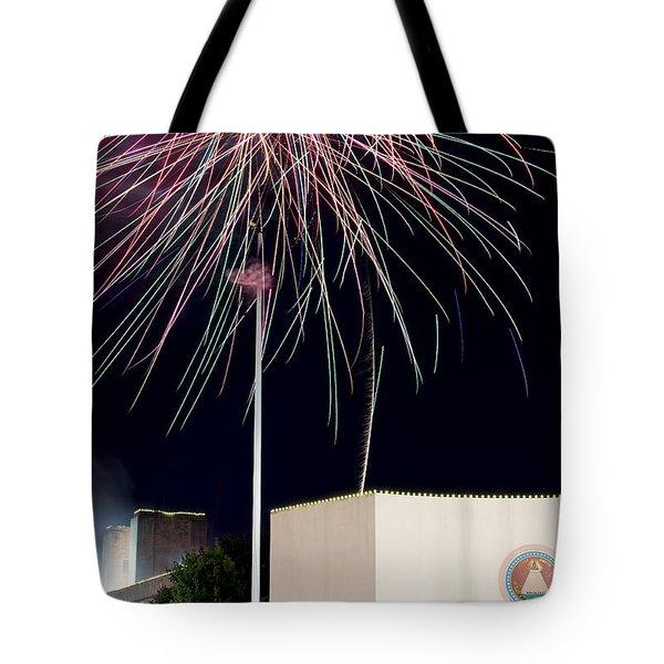 Taste Of Dallas 2015 Fireworks Tote Bag