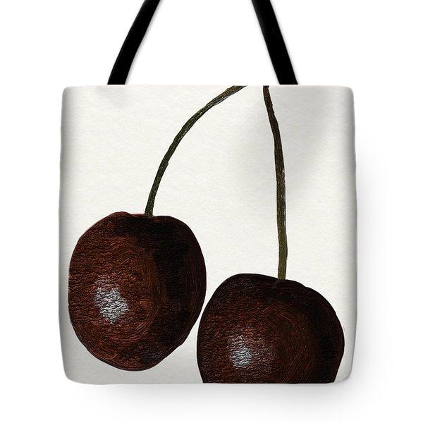 Tasty Red Cherries Tote Bag