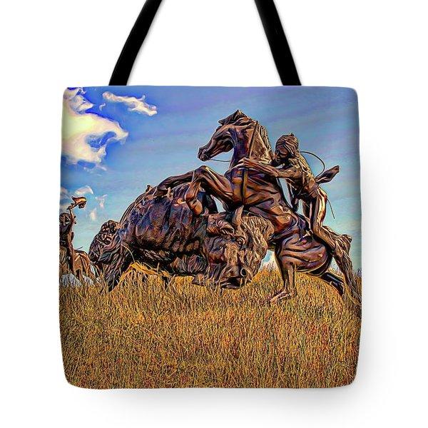 Tatanka Tote Bag by Dave Luebbert