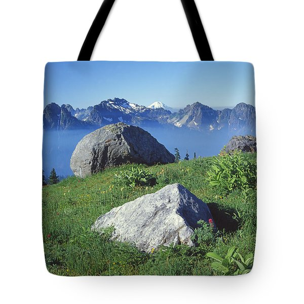 1m4862-tatoosh Range And Mt. St. Helens  Tote Bag