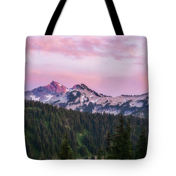 Tote Bag featuring the photograph Tatoosh Sunset by Sharon Seaward