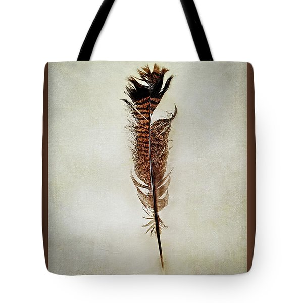 Tattered Turkey Feather Tote Bag