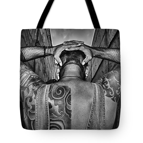 Tattoo Tote Bag by Stelios Kleanthous