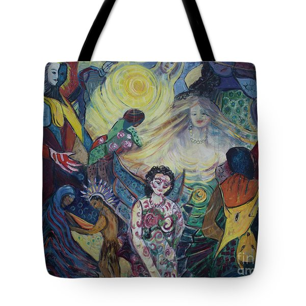 Tattooed Man  Tote Bag by Avonelle Kelsey