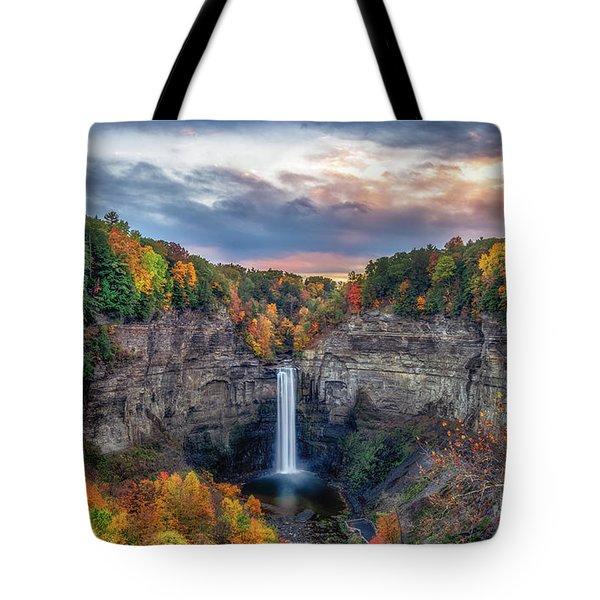 Taughannock Autumn Dusk Tote Bag