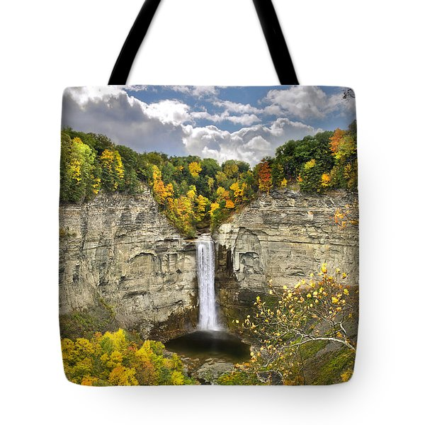 Taughannock Falls Autumn Tote Bag by Christina Rollo