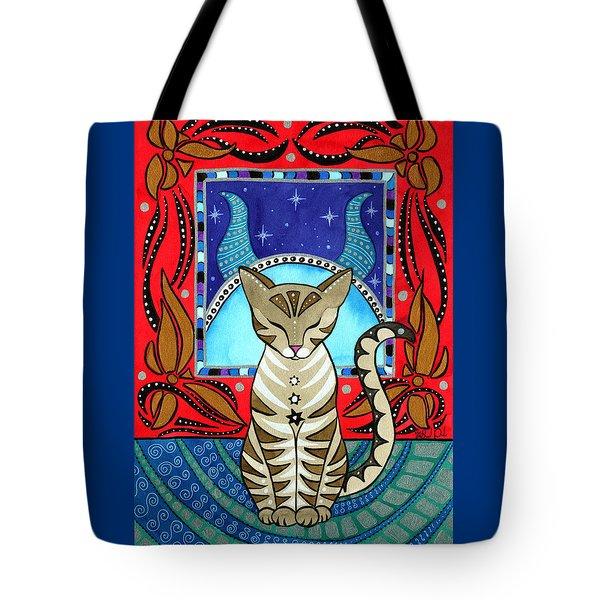 Taurus Cat Zodiac Tote Bag