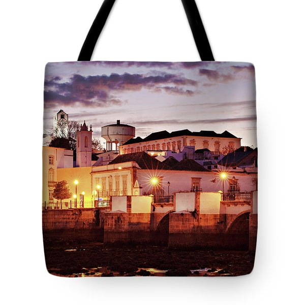Tavira At Dusk - Portugal Tote Bag