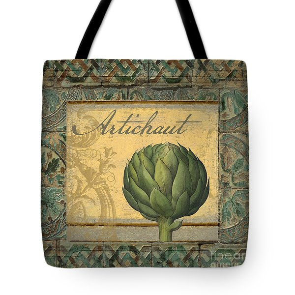 Tavolo, Italian Table, Artichoke Tote Bag by Mindy Sommers