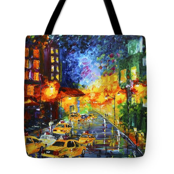 Taxi Cabs Tote Bag