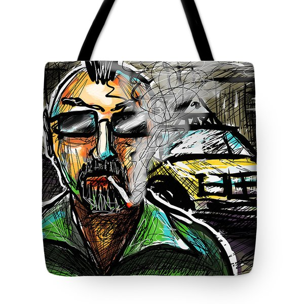 Tote Bag featuring the digital art Taxi Driver by Joe Bloch