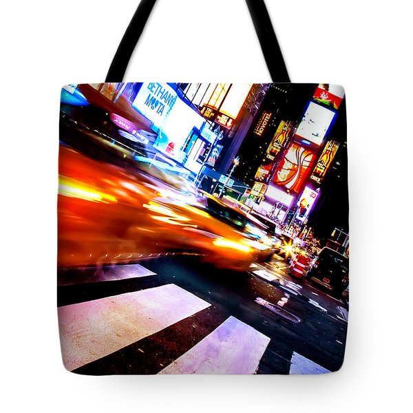 Taxi Square Tote Bag