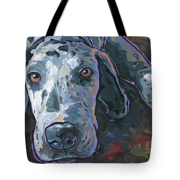 Tote Bag featuring the painting Taylor by Nadi Spencer