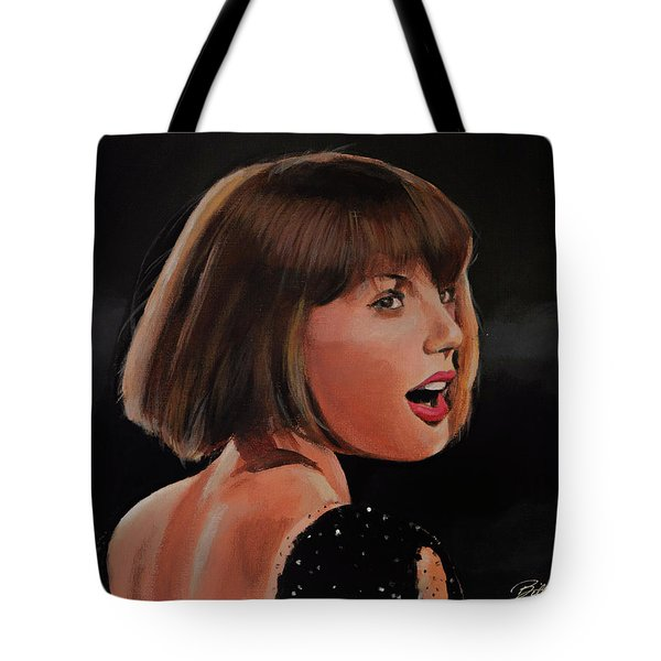 Taylor Swift Tote Bag by Bill Dunkley