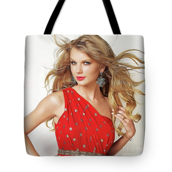 Taylor Swift Tote Bag by Twinkle Mehta