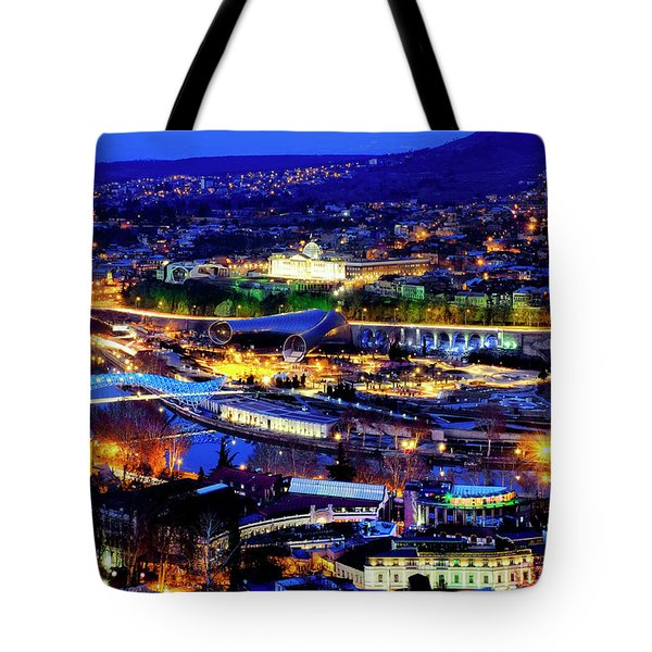 Tote Bag featuring the photograph Tbilisi by Fabrizio Troiani