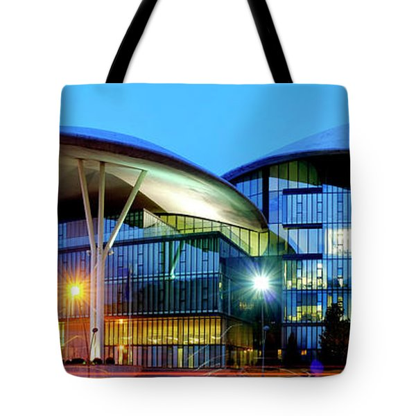 Tote Bag featuring the photograph Tbilisi Public Service Hall  by Fabrizio Troiani