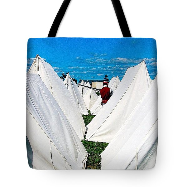 Field Of Tents Tote Bag