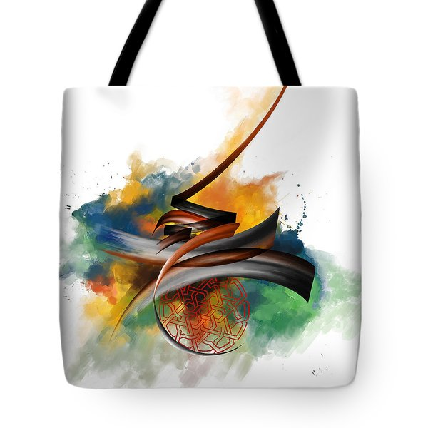 Tc Calligraphy 34 Tote Bag by Team CATF