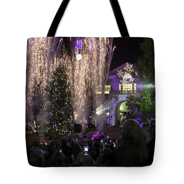 Tcu Christmas Tree Lighting Celebration Tote Bag
