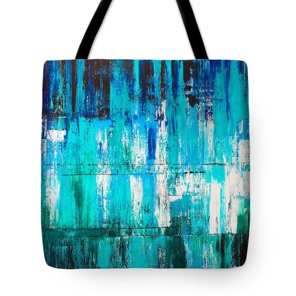Tdal Wave Tote Bag by Izabela Bienko