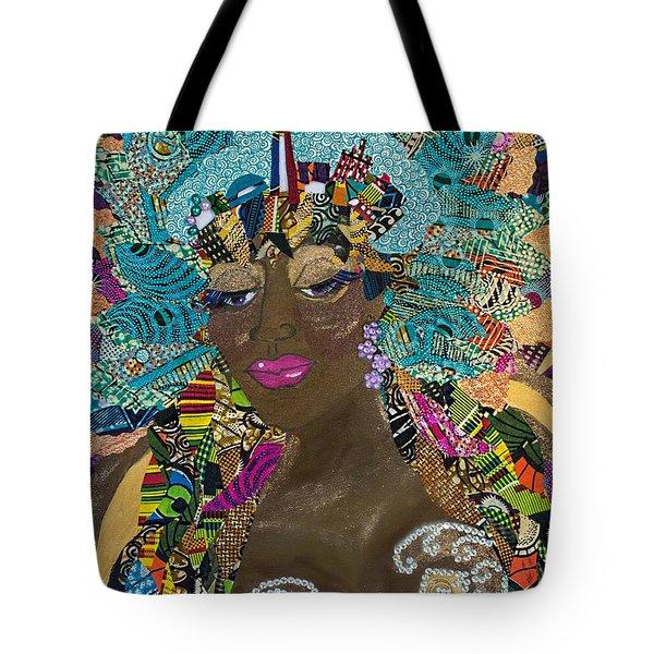 Tote Bag featuring the tapestry - textile Tdot Caribana by Apanaki Temitayo M