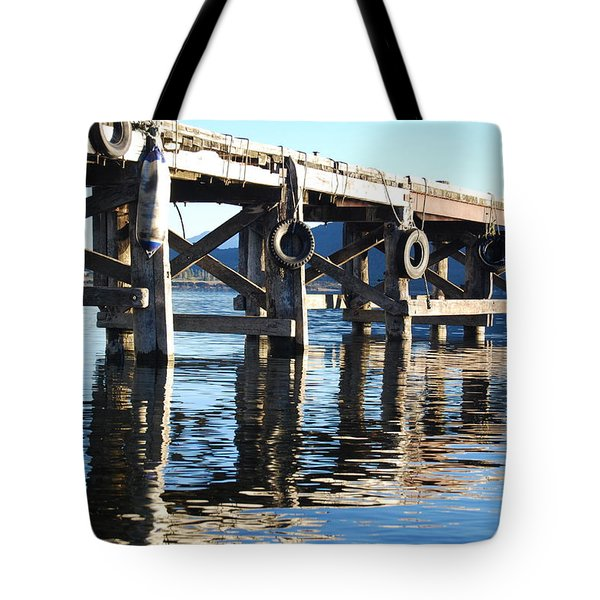 Tote Bag featuring the photograph Te Anau Pier by Jocelyn Friis