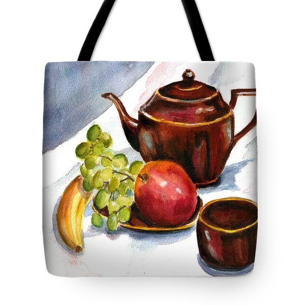 Tea And Fruit Tote Bag