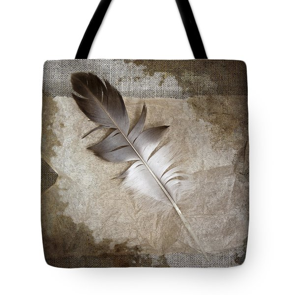 Tea Feather Tote Bag by Carol Leigh