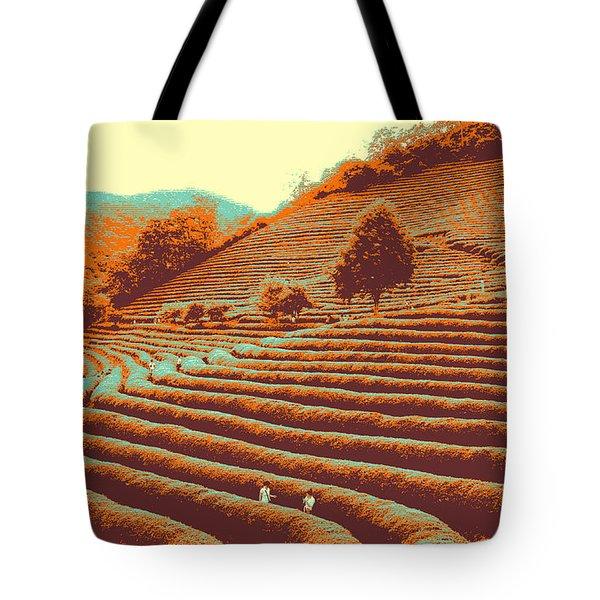 Tea Field Tote Bag