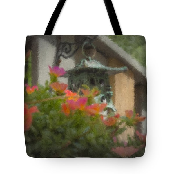 Tea Lantern And Portulaca Tote Bag