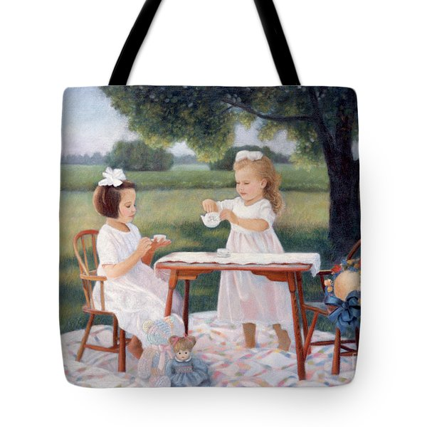 Tote Bag featuring the pastel Tea Party by Nancy Lee Moran