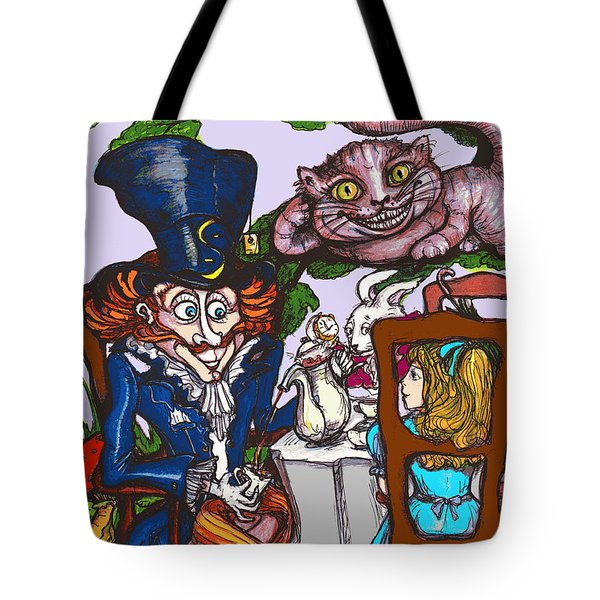 Tea Party Tote Bag by Rae Chichilnitsky