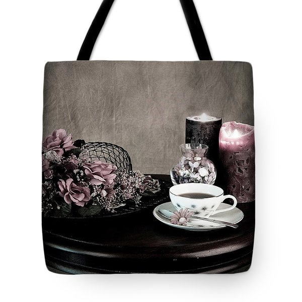 Tea Party Time Tote Bag by Sherry Hallemeier