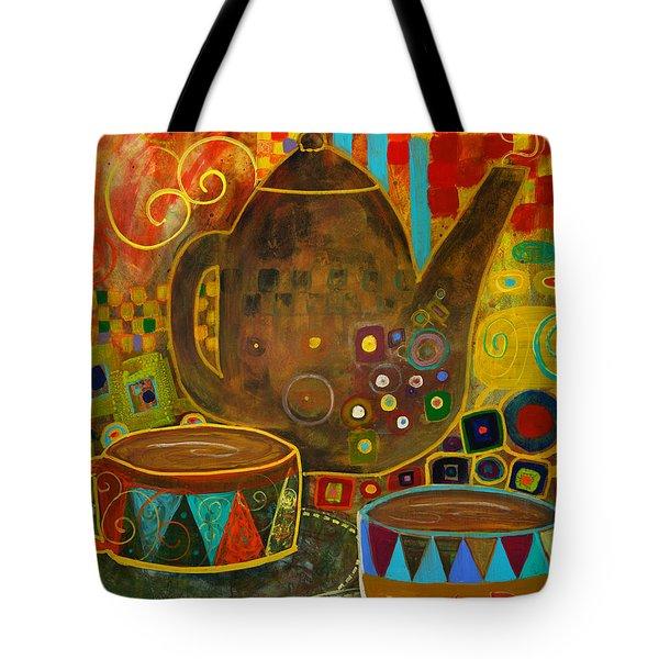Tea Party With Klimt Tote Bag