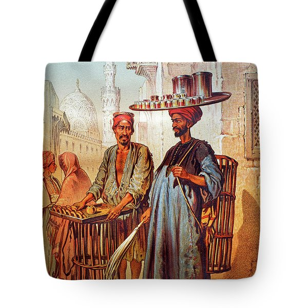 Tote Bag featuring the photograph Tea Seller by Munir Alawi