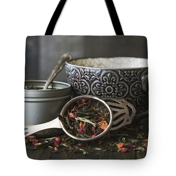 Tote Bag featuring the photograph Tea Time 8312 by Teresa Wilson