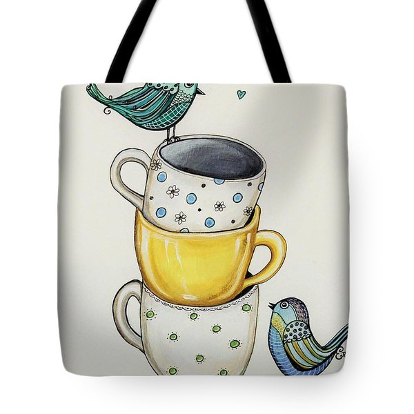 Tea Time Friends Tote Bag by Elizabeth Robinette Tyndall