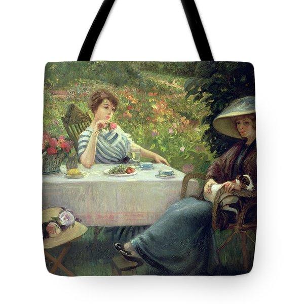 Tea Time Tote Bag by Jacques Jourdan