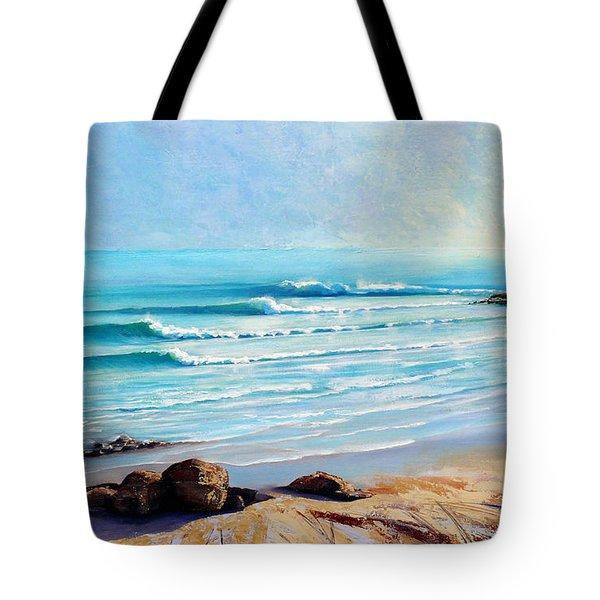 Tote Bag featuring the painting Tea Tree Bay Noosa Heads Australia by Chris Hobel