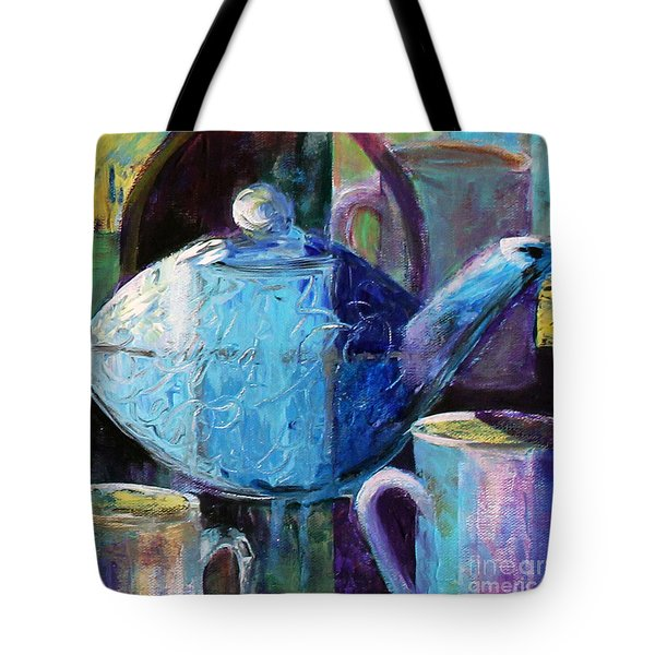 Tote Bag featuring the photograph Tea With Friends by Priti Lathia