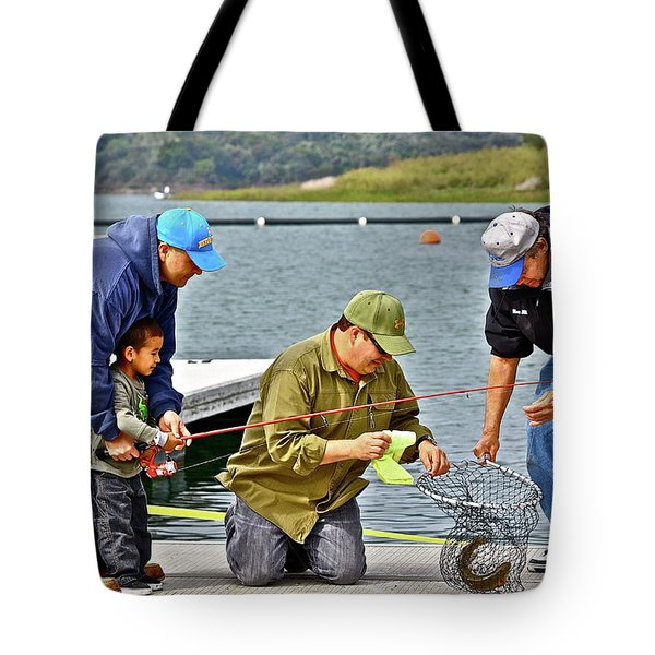 Teach Him To Fish Tote Bag