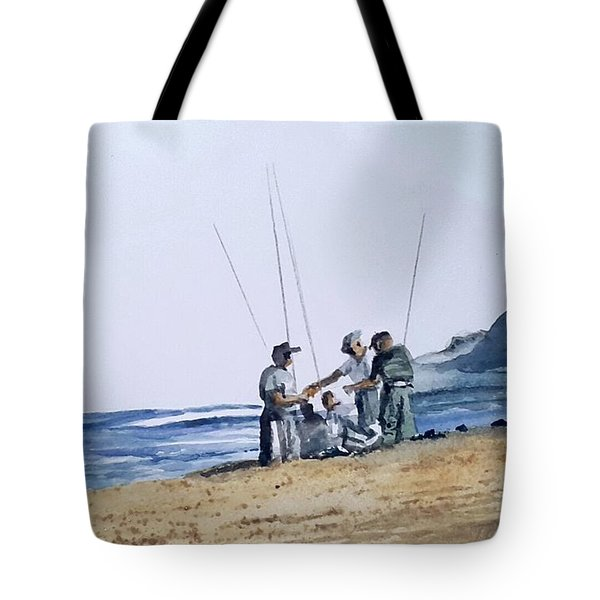 Teach Them To Fish Tote Bag