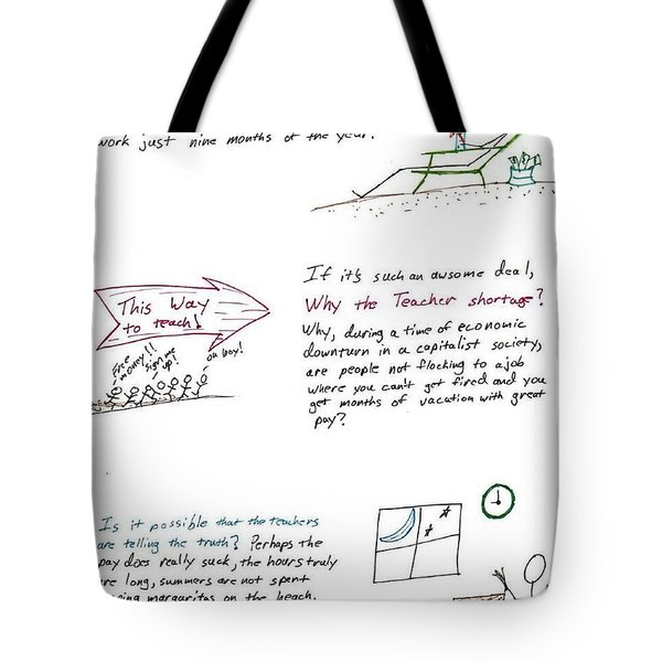 Teacher Deal Tote Bag by David S Reynolds