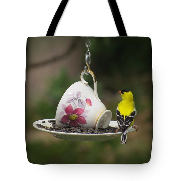 Teacup Finch Tote Bag by MTBobbins Photography