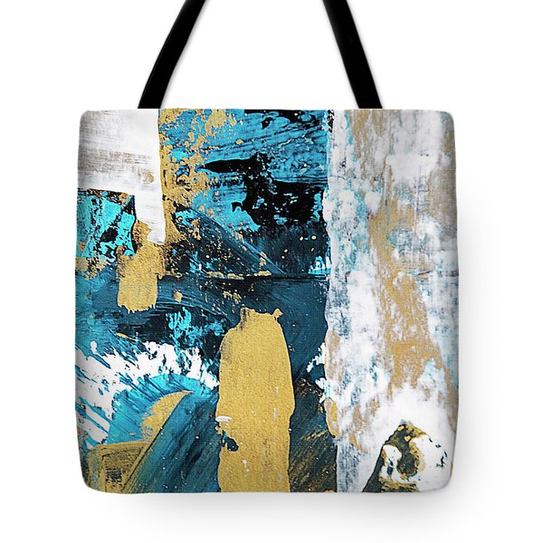 Tote Bag featuring the painting Teal Abstract by Christina Rollo